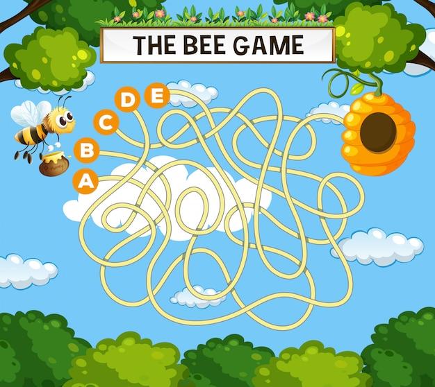 Le modèle de jeu abeille labyrinthe