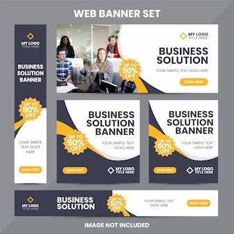 Modèle de jeu d'annonces de bannière web moderne
