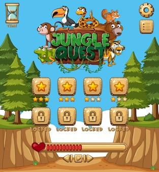 Modèle de jeu avec des arbres en foest