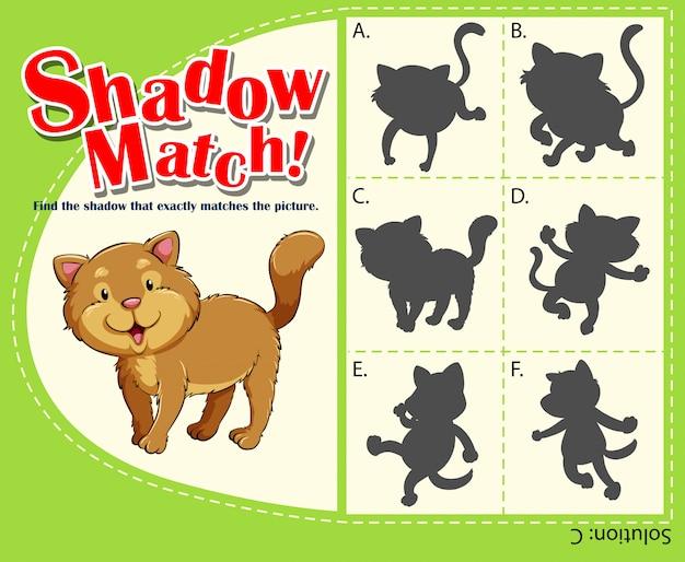 Modèle de jeu assorti avec chat
