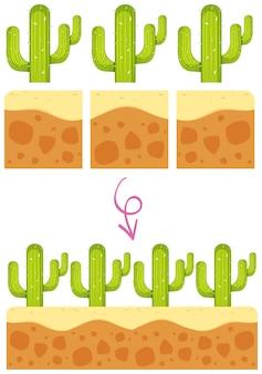 Un modèle de jeu avec cactus