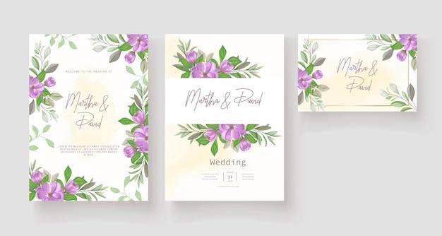 Modèle de jeu de cartes d'invitation de mariage élégant
