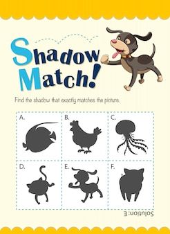 Modèle de jeu avec chien correspondant