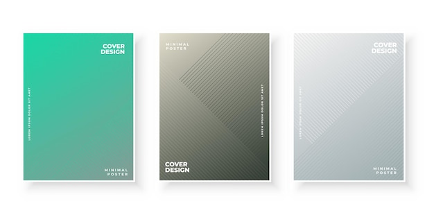 Modèle de jeu de conception de couvertures de dégradé coloré élégant