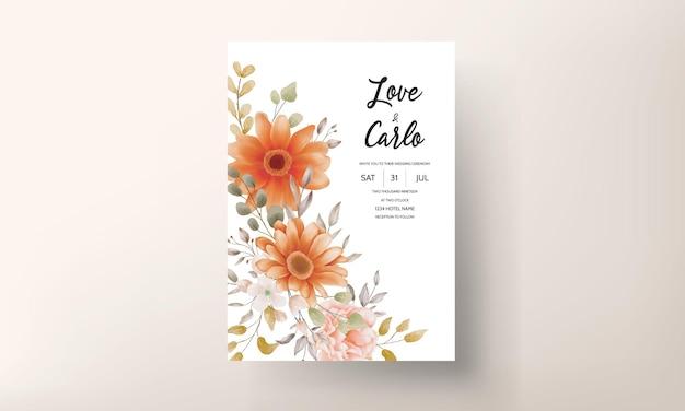 Modèle de jeu de conception d'invitation de mariage floral de printemps