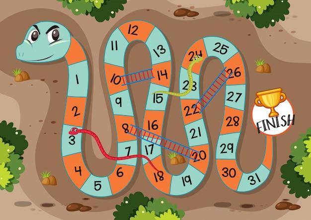 Modèle de jeu d'échelle de serpent