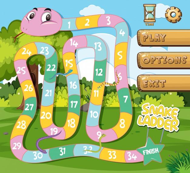 Un modèle de jeu d'échelle de serpent