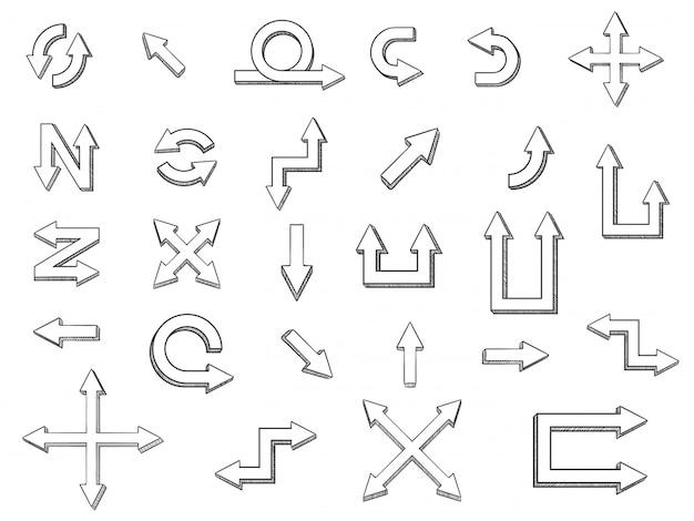 Modèle de jeu d'icônes de flèche