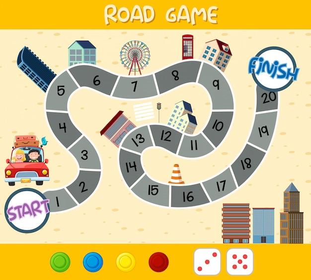 Modèle de jeu de labyrinthe amusant