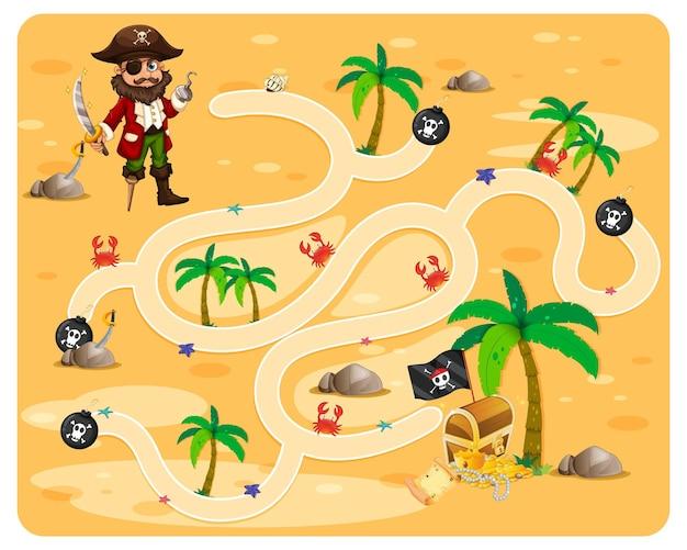 Modèle de jeu de labyrinthe de dessin animé mignon