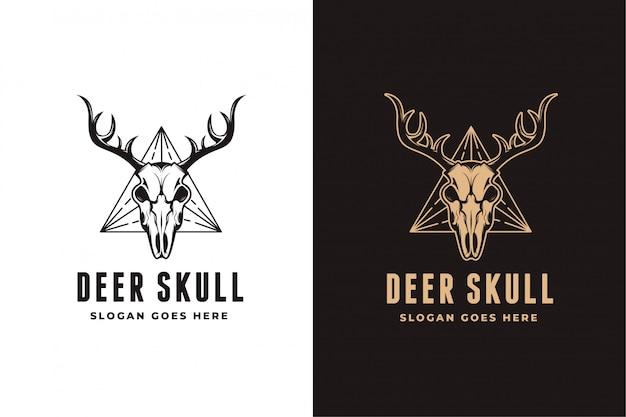 Modèle de jeu de logo de crâne de cerf