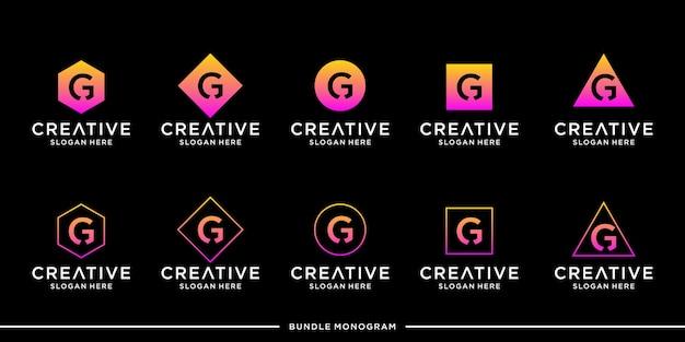 Modèle de jeu de logo g premium