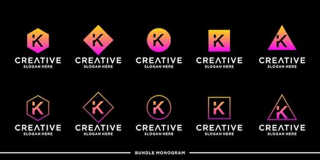 Modèle de jeu de logo k premium