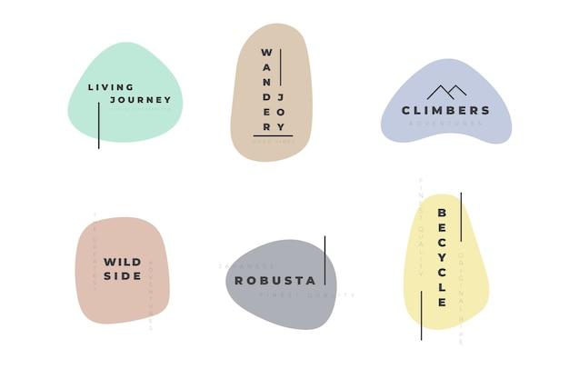 Modèle de jeu de logo minimal avec des couleurs pastel