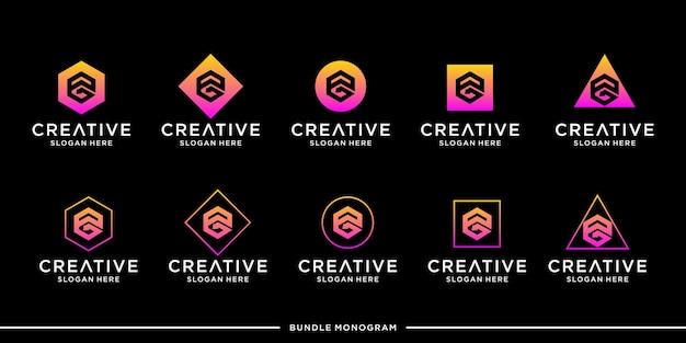 Modèle de jeu de logo pg premium