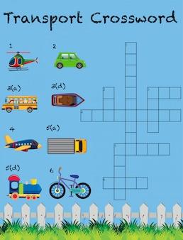 Un modèle de jeu de mots croisés de transport
