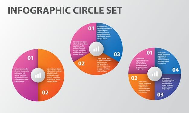 Modèle de jeu d'options de cercle d'infographie