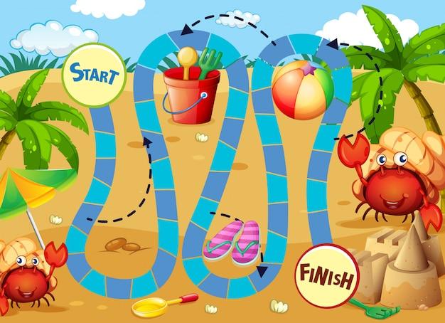 Modèle de jeu de plateau d'été