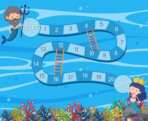 Modèle de jeu de plateau sous-marin