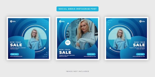Modèle de jeu de post instagram pour les médias sociaux