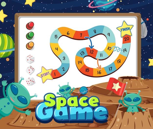 Modèle de jeu de société d'échelle de serpent pour enfants
