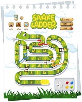 Un modèle de jeu de société de serpent
