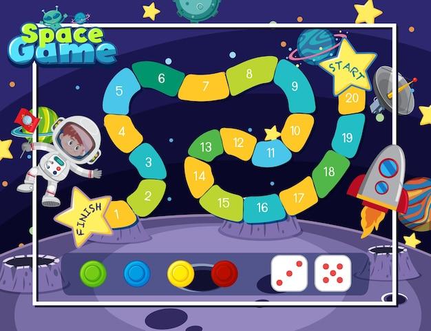 Modèle de jeu de société snake ladder pour les enfants