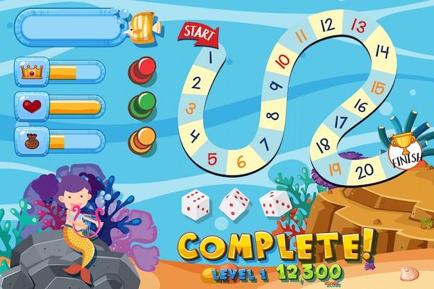 Modèle de jeu avec sous l'eau