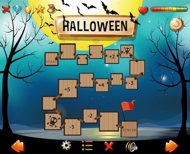 Modèle de jeu avec thème halloween