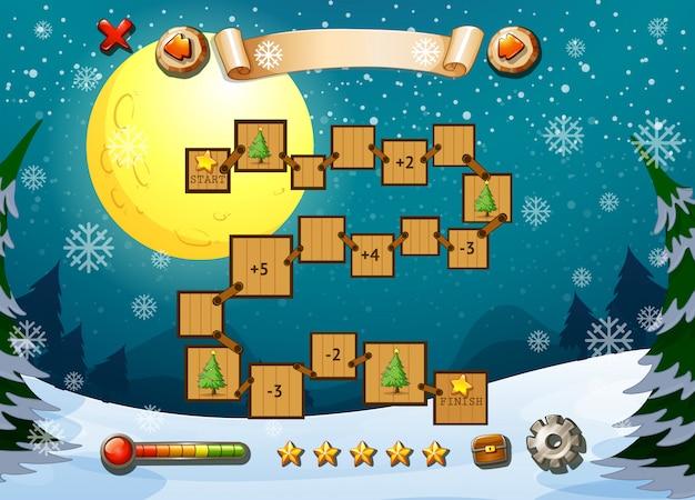 Modèle de jeu avec thème d'hiver