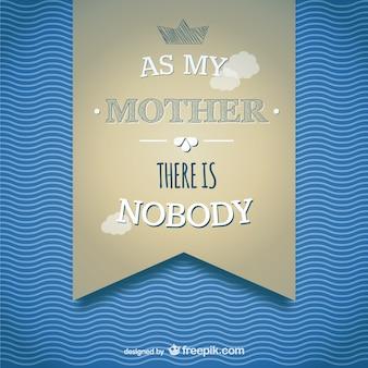 Le modèle jour de la carte de la bannière de la mère