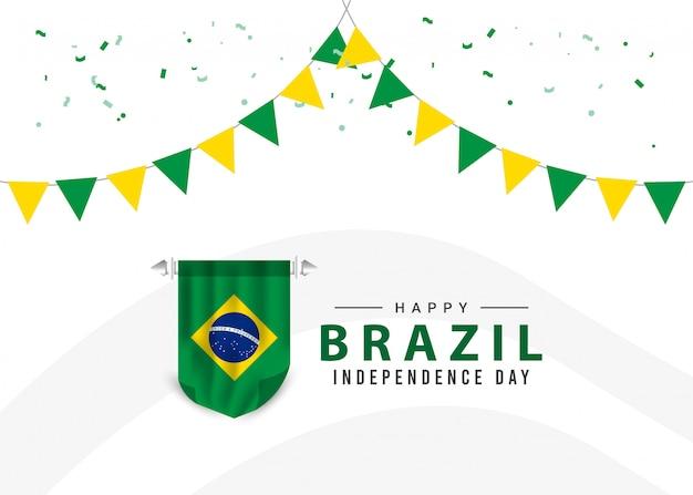 Modèle de jour de l'indépendance du brésil.
