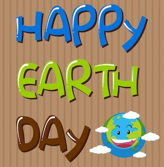Modèle de jour de la terre heureuse