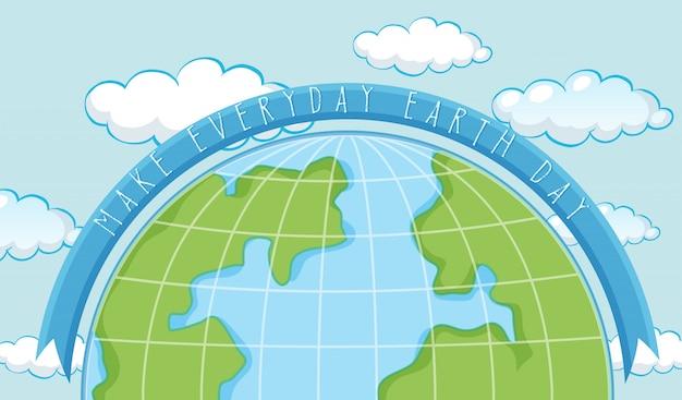 Un modèle de jour de la terre
