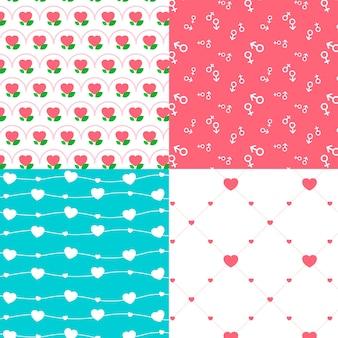 Modèle de jour de valentines design plat coloré