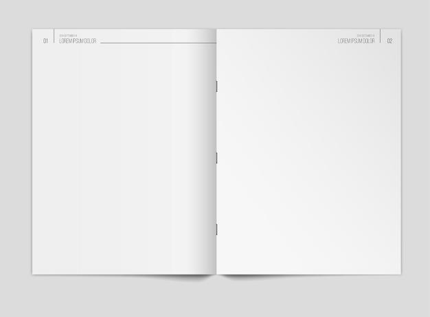 Modèle de journal vierge sur fond gris
