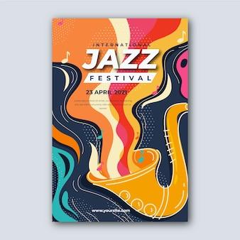 Modèle de journée internationale du jazz pour flyer