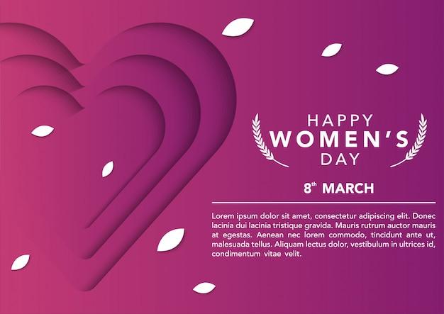 Modèle de journée internationale des femmes de vecteur stock