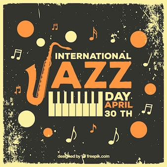 Modèle de journée internationale de jazz