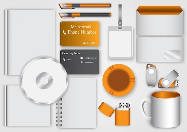 Modèle De Kit D'affaires Vecteur Premium