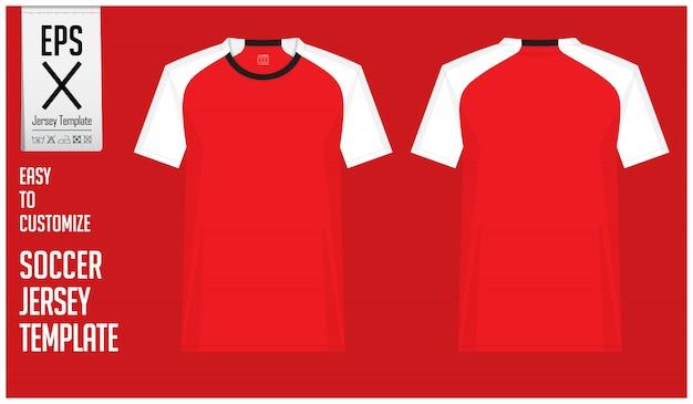 Modèle de kit de maillot de football ou de football minimal