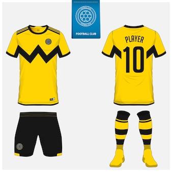 Modèle de kit de maillot de football ou de football