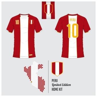 Modèle de kit de maillot ou de football pérou