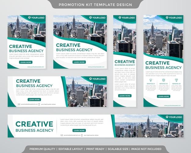 Modèle de kit de promotion minimaliste