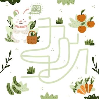 Modèle de labyrinthe pour enfants