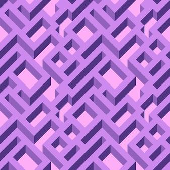 Modèle de labyrinthe sans couture isométrique. texture abstraite d'ornement sans fin. abstrait géométrique.