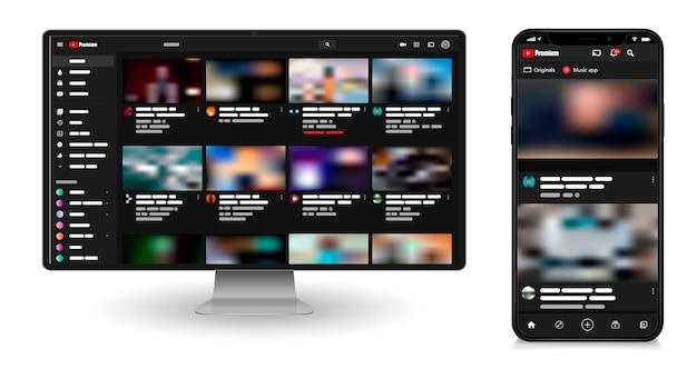 Modèle de lecteur vidéo youtube.