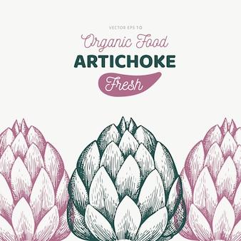 Modèle de légume d'artichaut.