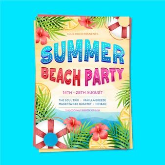Modèle de lettrage affiche fête d'été