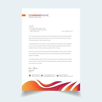 Modèle de lettre d'affaires abstraite